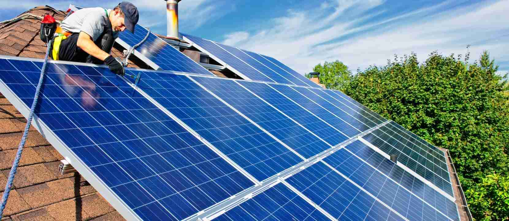 hero solving solar man installing solar